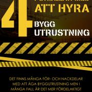 Anledningar till att hyra byggutrustning| Infographical