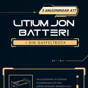 Fördelar med att använda litiumjonbatterier i din gaffeltruck