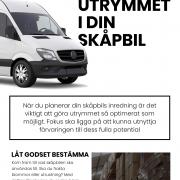 Gör en plan för skåpbilens förvaringsutrymme | Infographical
