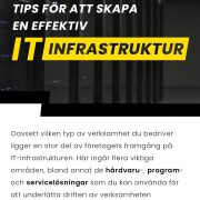 Hur man skapar en effektiv IT-infrastruktur | Infographical