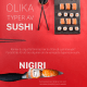 Olika typer av sushi på Sushi Yama Söderhallarna | Infographical