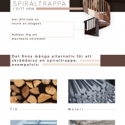 Spiraltrappa: yay eller nay? | infographical