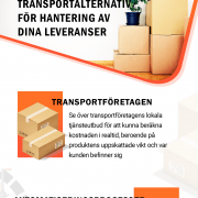 Transportföretag-som kan-hantera-leveranser-i-din-verksamhet | Infographical