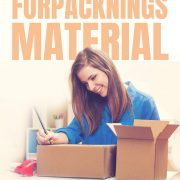Vanliga förpackningsmaterial | Infographical