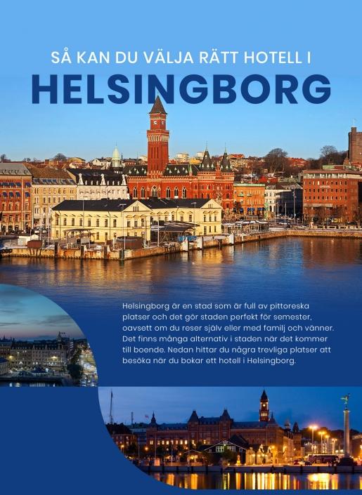 Perfekta platser att besöka när du bor på ett hotell i Helsingborg | Infographical