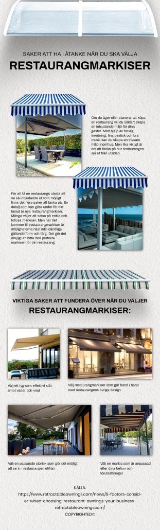 Restaurangmarkiser | Persiennkompaniet