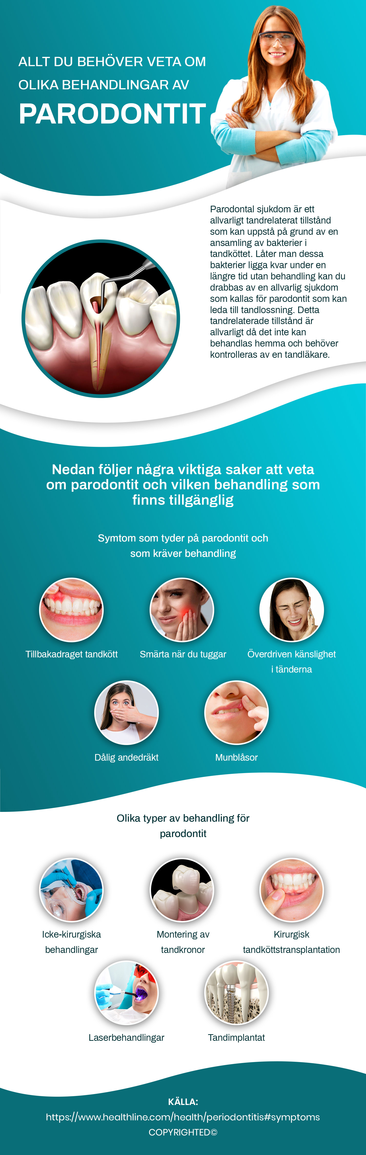 Allt du behöver veta om olika behandlingar av parodontit